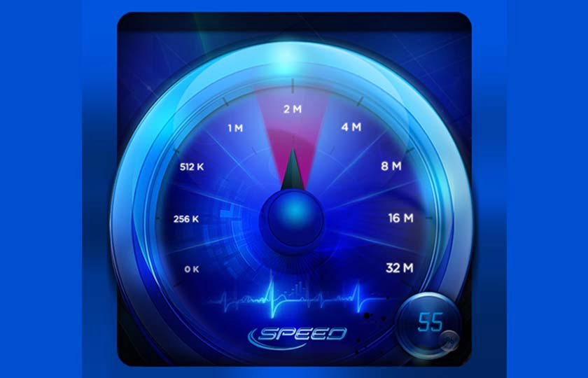 Perform a V-SPEED speed test