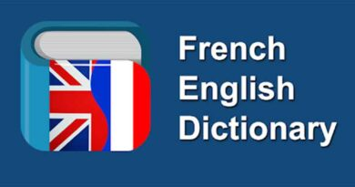 Dictionary of French and English